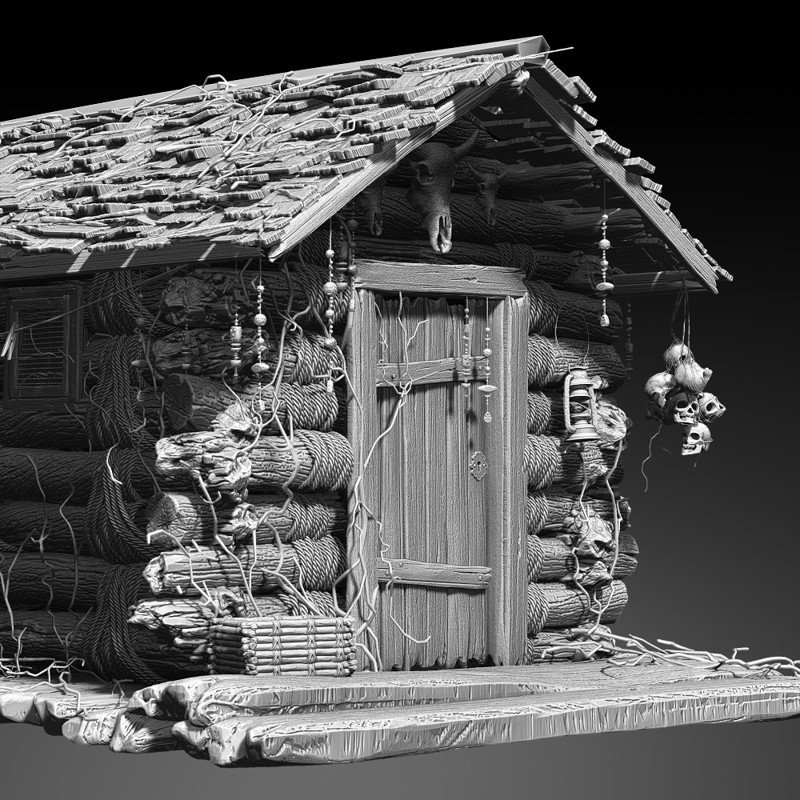 High Poly Cabin w.i.p.
