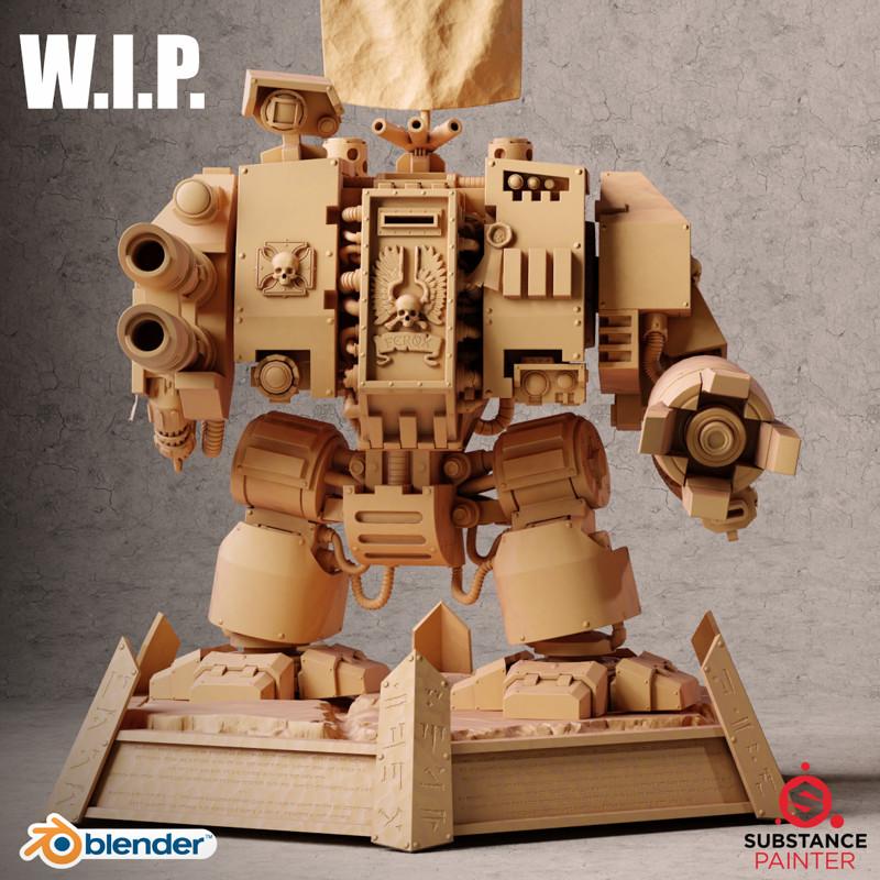 WIP: Ultramarine Dreadnought - Warhammer 40k