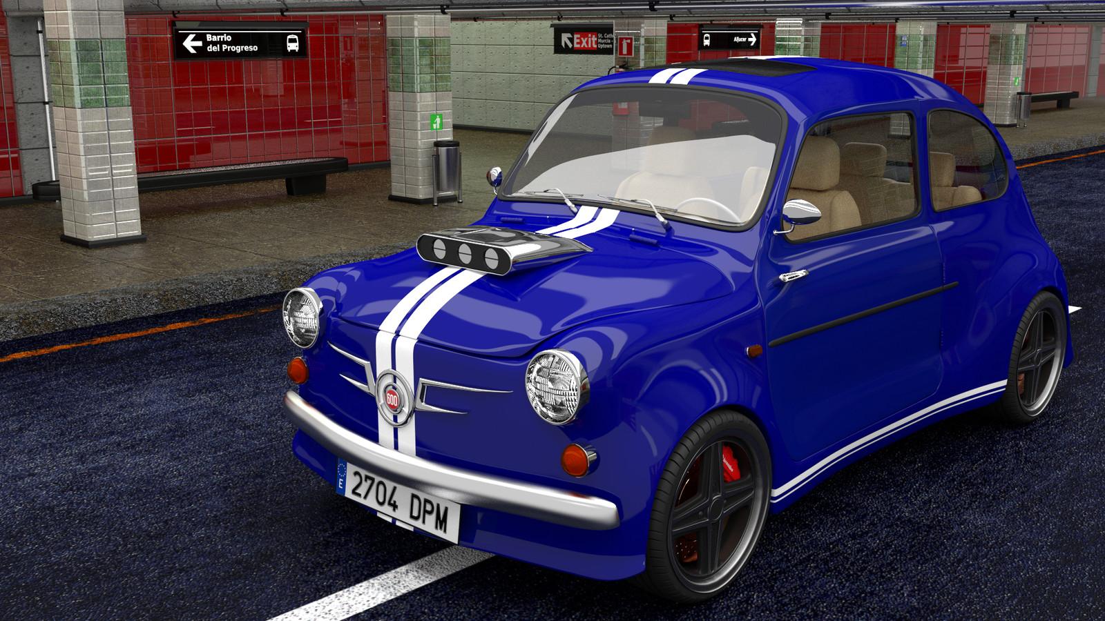 Tuned SEAT 600 CG Car