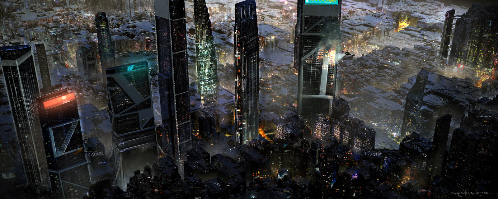 Near Future Dystopian Mega City