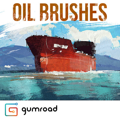Greg rutkowski oil brushes square