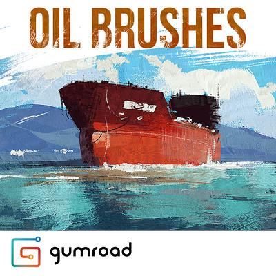 Greg rutkowski oil brushes square
