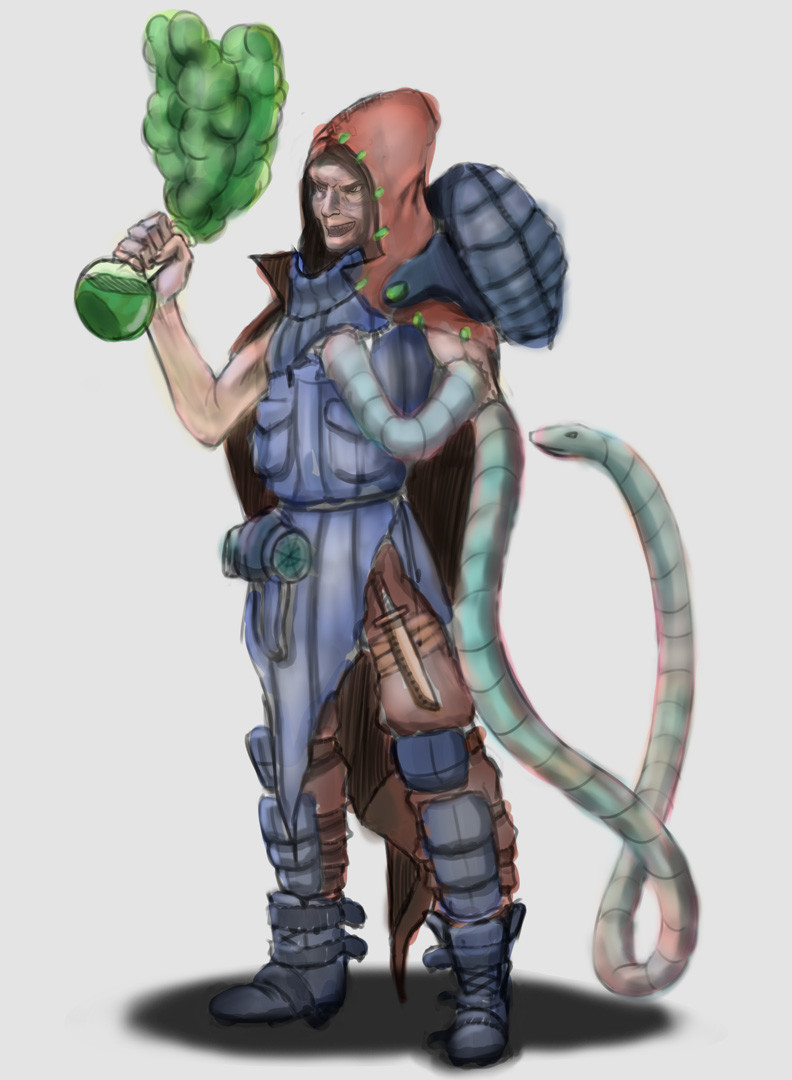 Old Alchemist - Concept Art