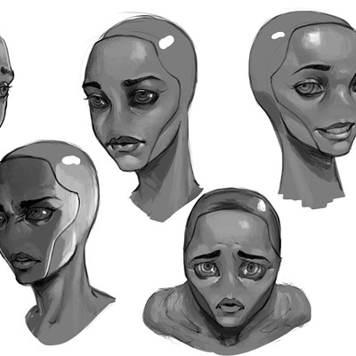 Tumo mere main character expression sheet 2