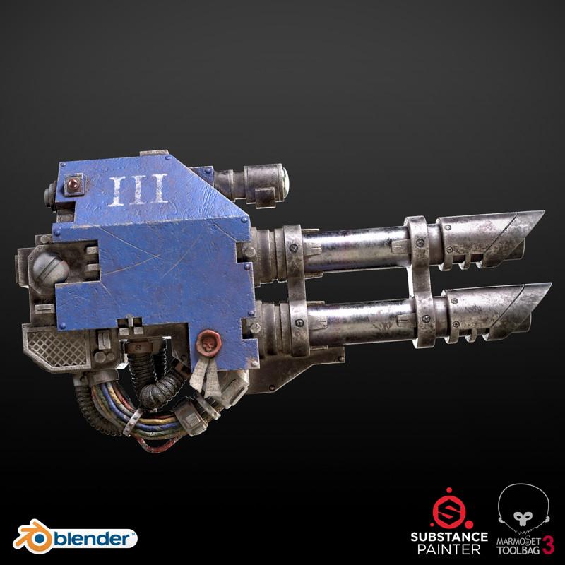Breakdown: Ultramarine Dreadnought LASCANNON