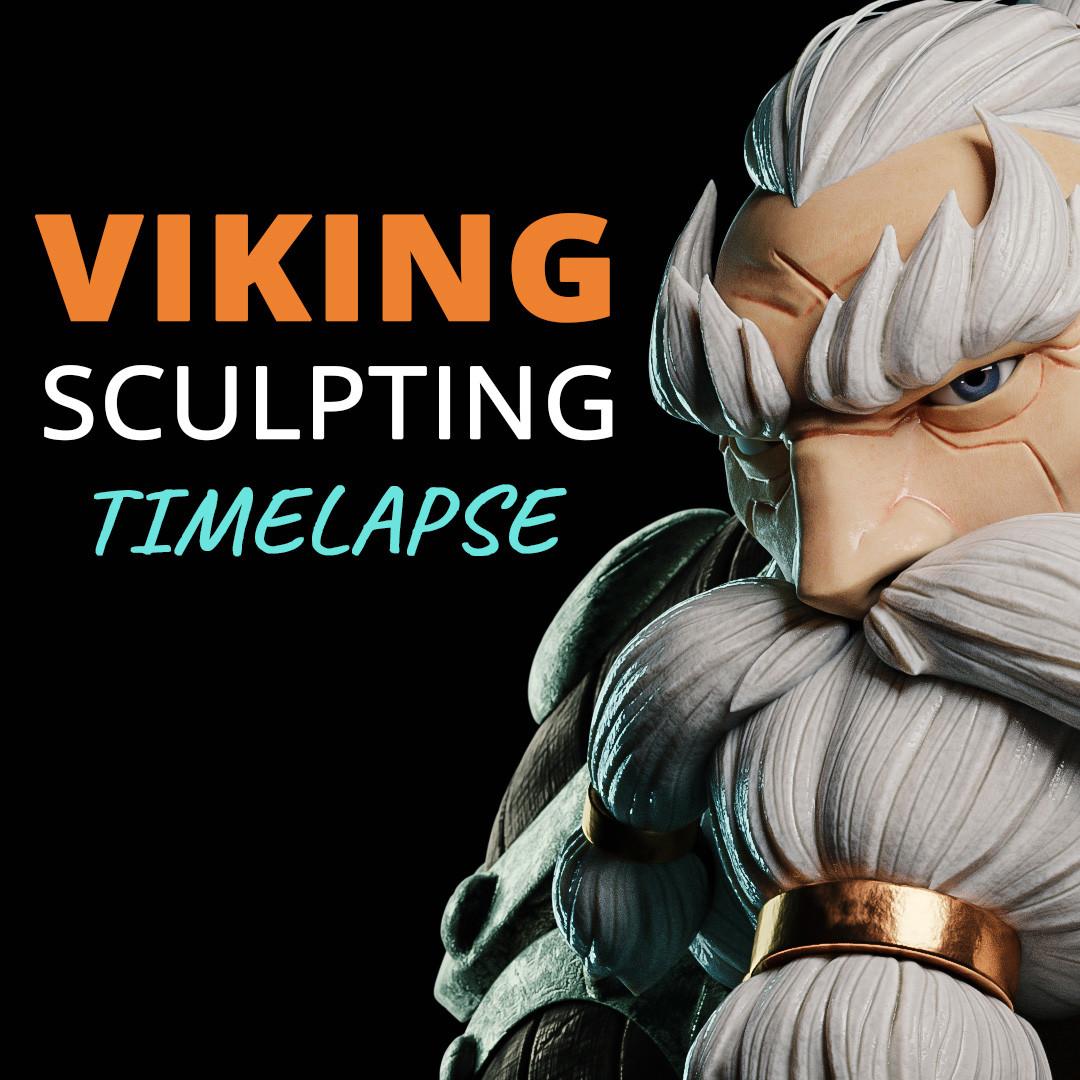 ArtStation - Viking Character Sculpting - Blender Timelapse