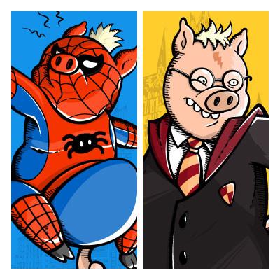 Artstation Spider Pig And Harry Plopper Robson Gomes