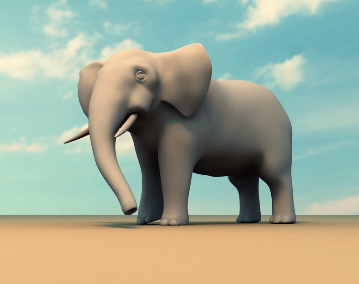 elephant sneeze animation