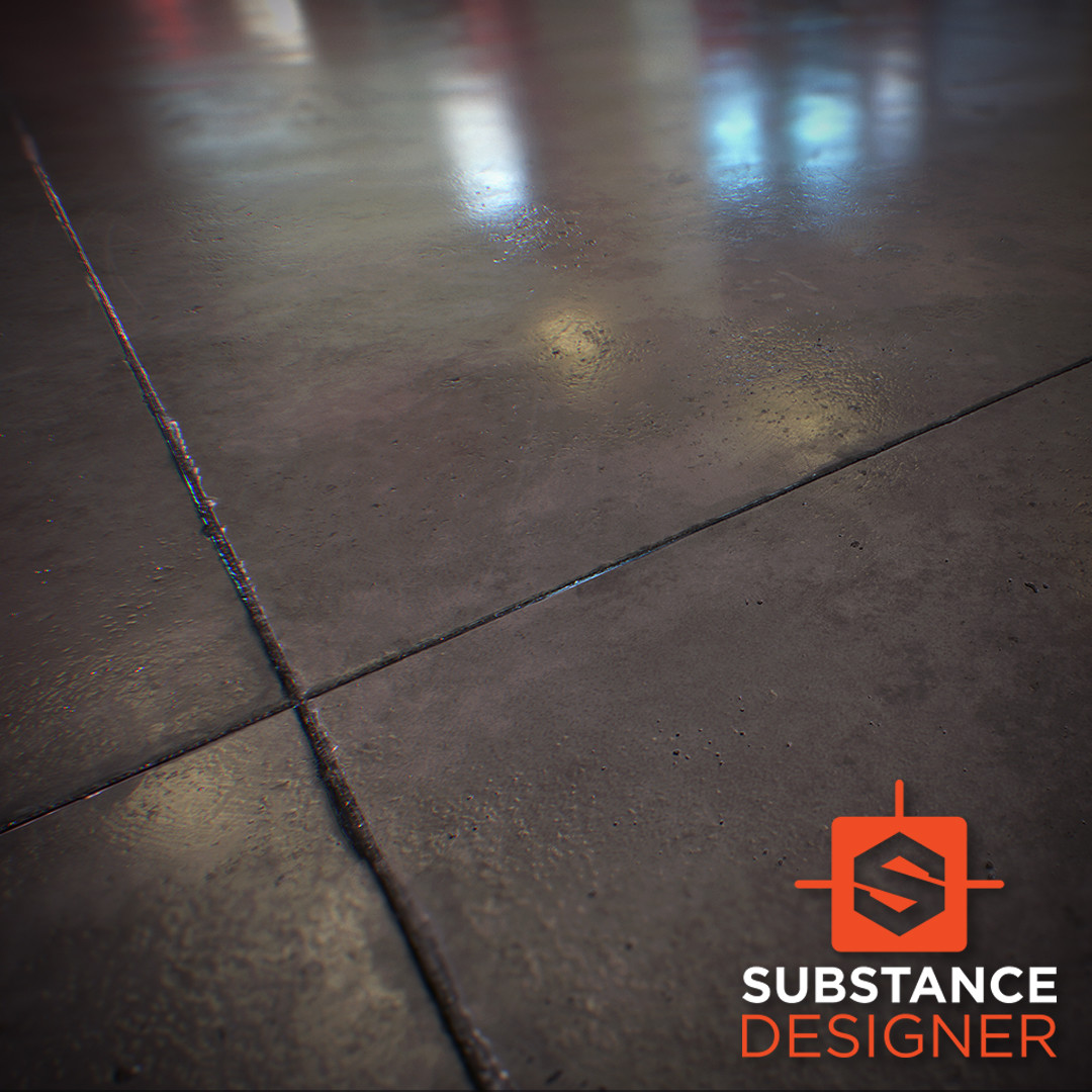 Polished Concrete Floor / Substance Designer