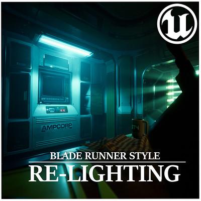 Junliang zhang ue4 relighting 02 bladerunner