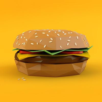 Max holzer lowpoly stuff burger 01