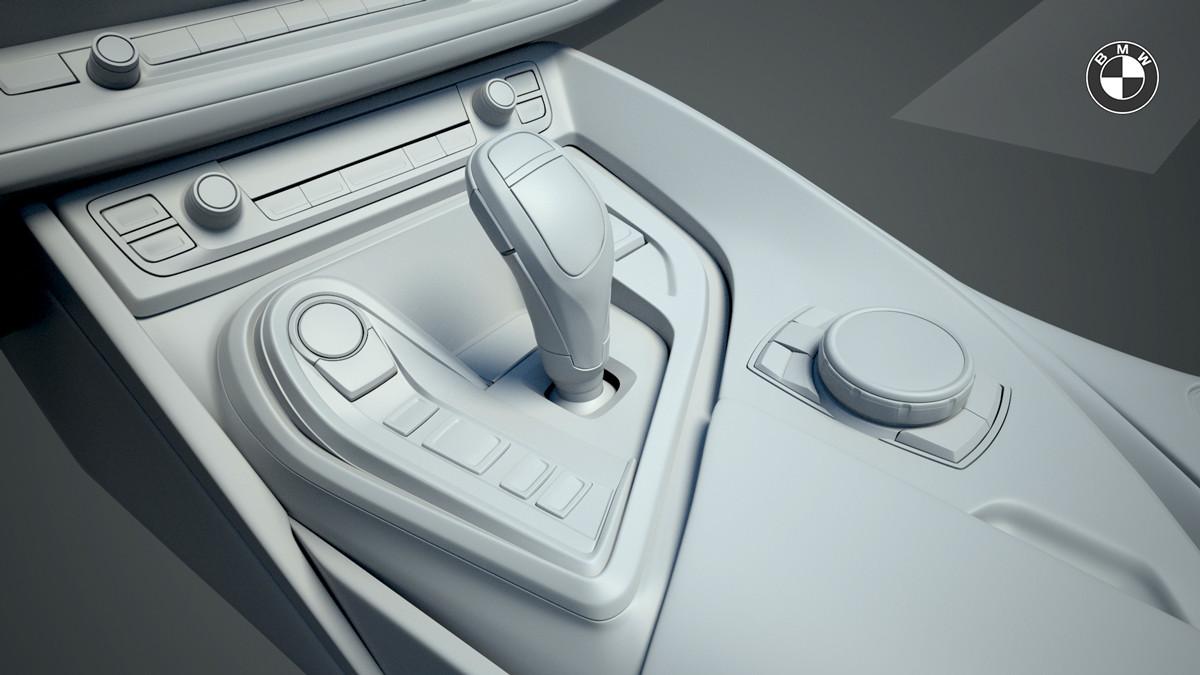 Santosh S Bmw I8 Interior 3d Modeling