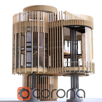 Treehouse Design - Corona Renderer