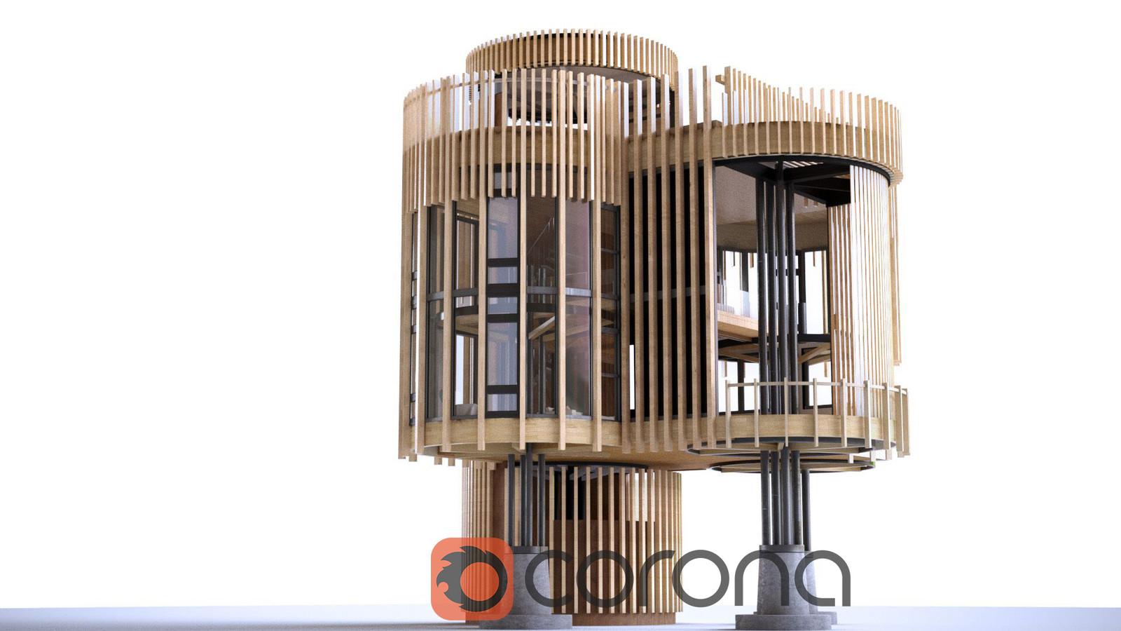 Treehouse Design - Corona Renderer