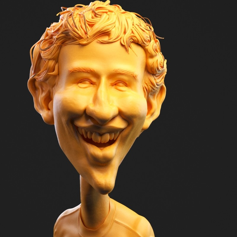 Mark Zuckerberg Caricature