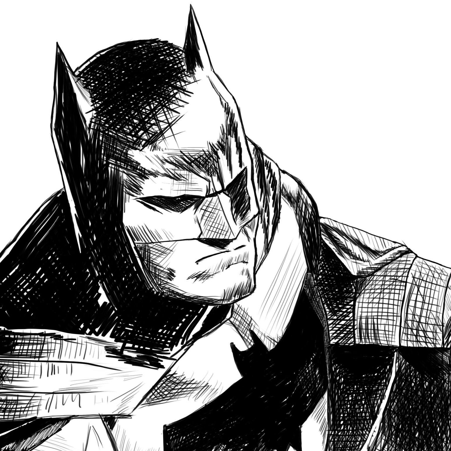 artstation batman sketch henrique gomes