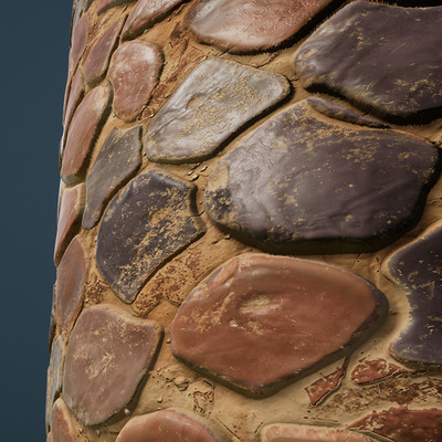 Stylized Stone Floor Texture- Procedural