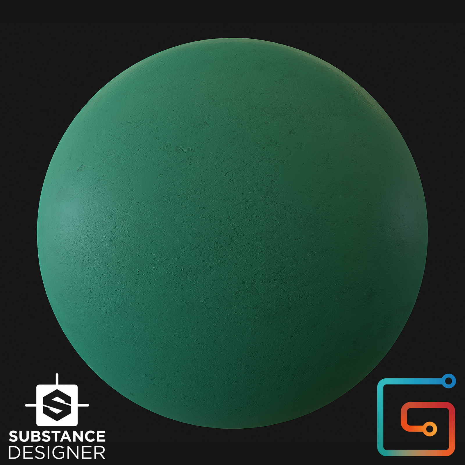 Plaster - Painted - Substance Designer Material