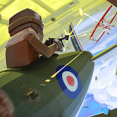 Nicolas morales world war i flying aces illustration doughnut
