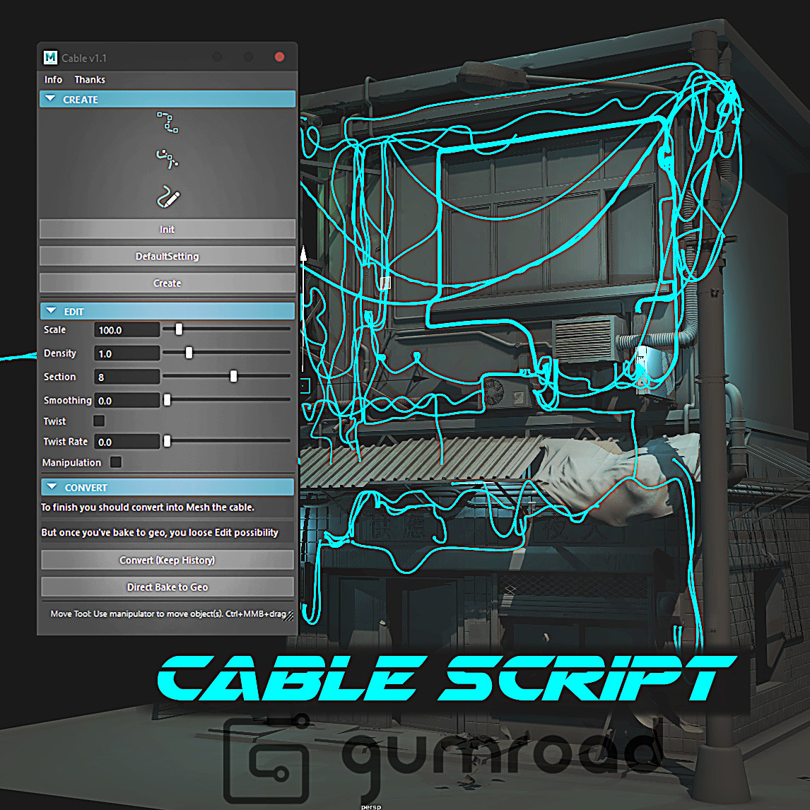 CABLE Script for Maya