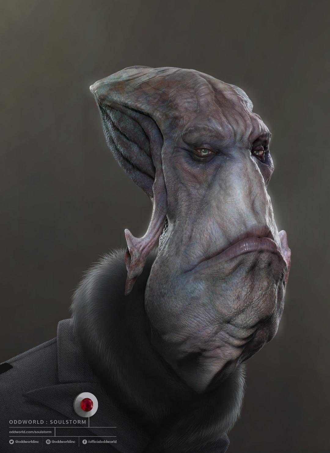 Oddworld: Soulstorm character portraits, Glukkon 1