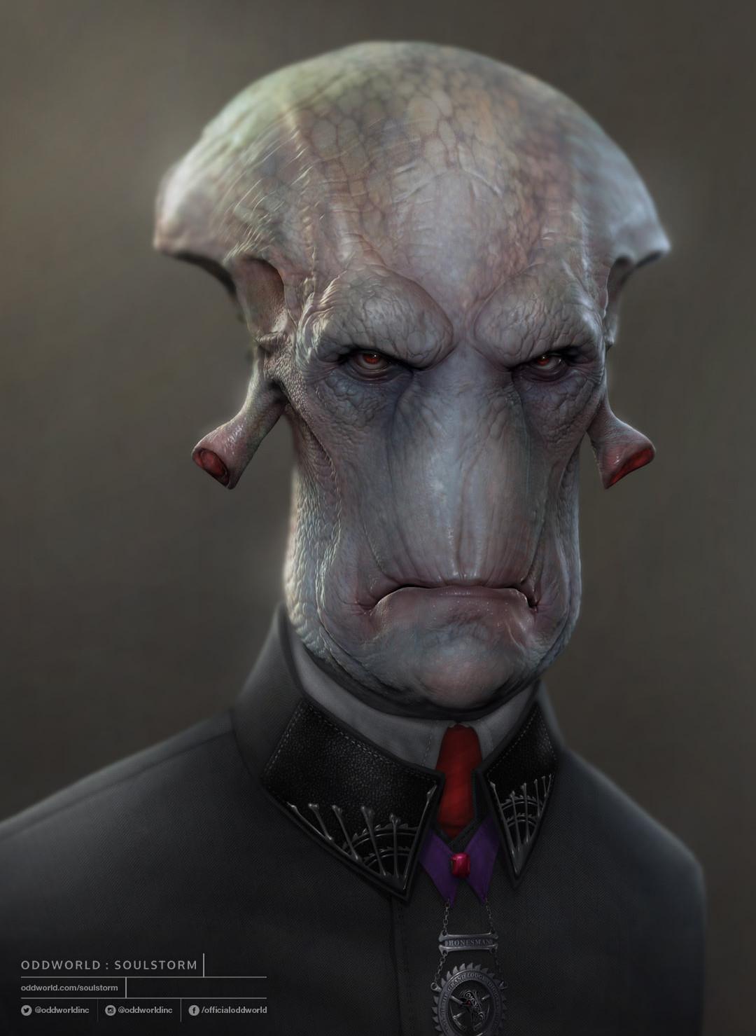Oddworld Soulstorm character portraits, Glukkon 2