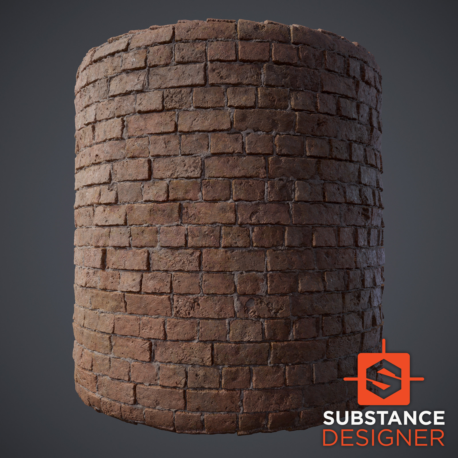 Worn Brick (Substance Designer)
