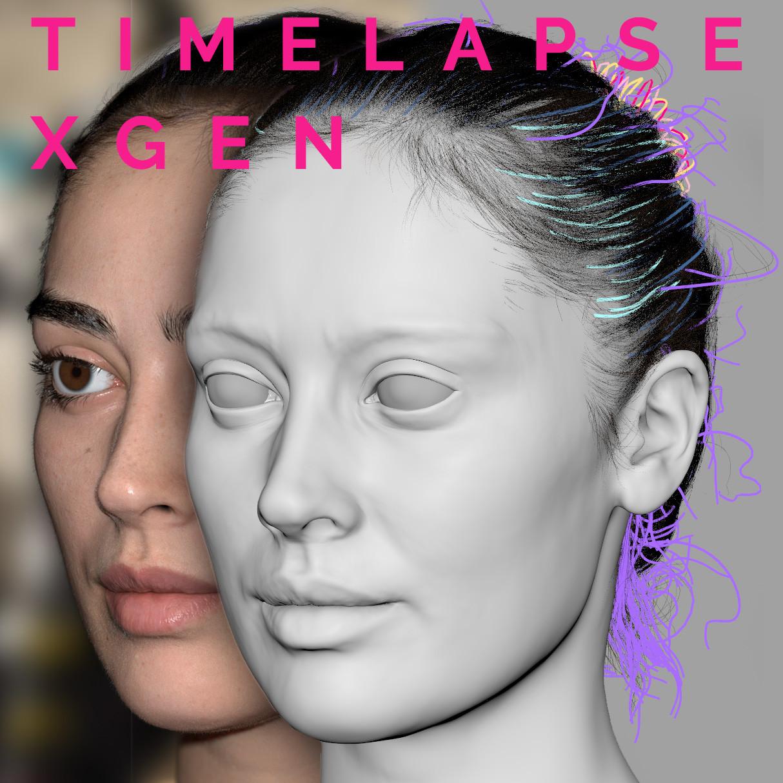 Xgen hair timelapse