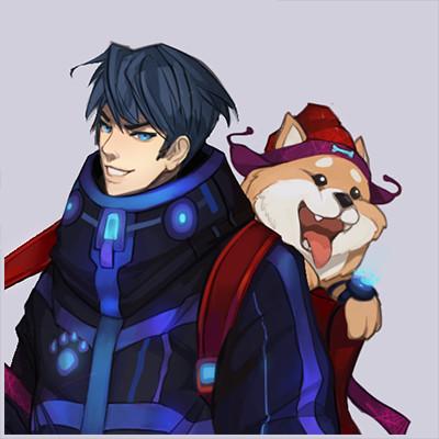 Nerd and his doggo