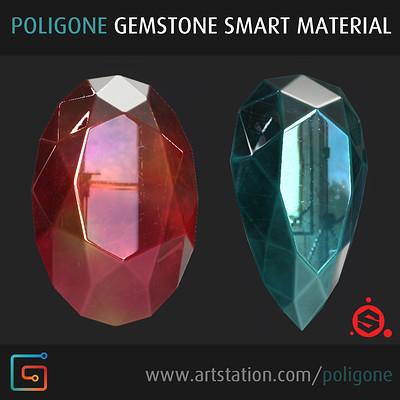 Gemstone Smart Material