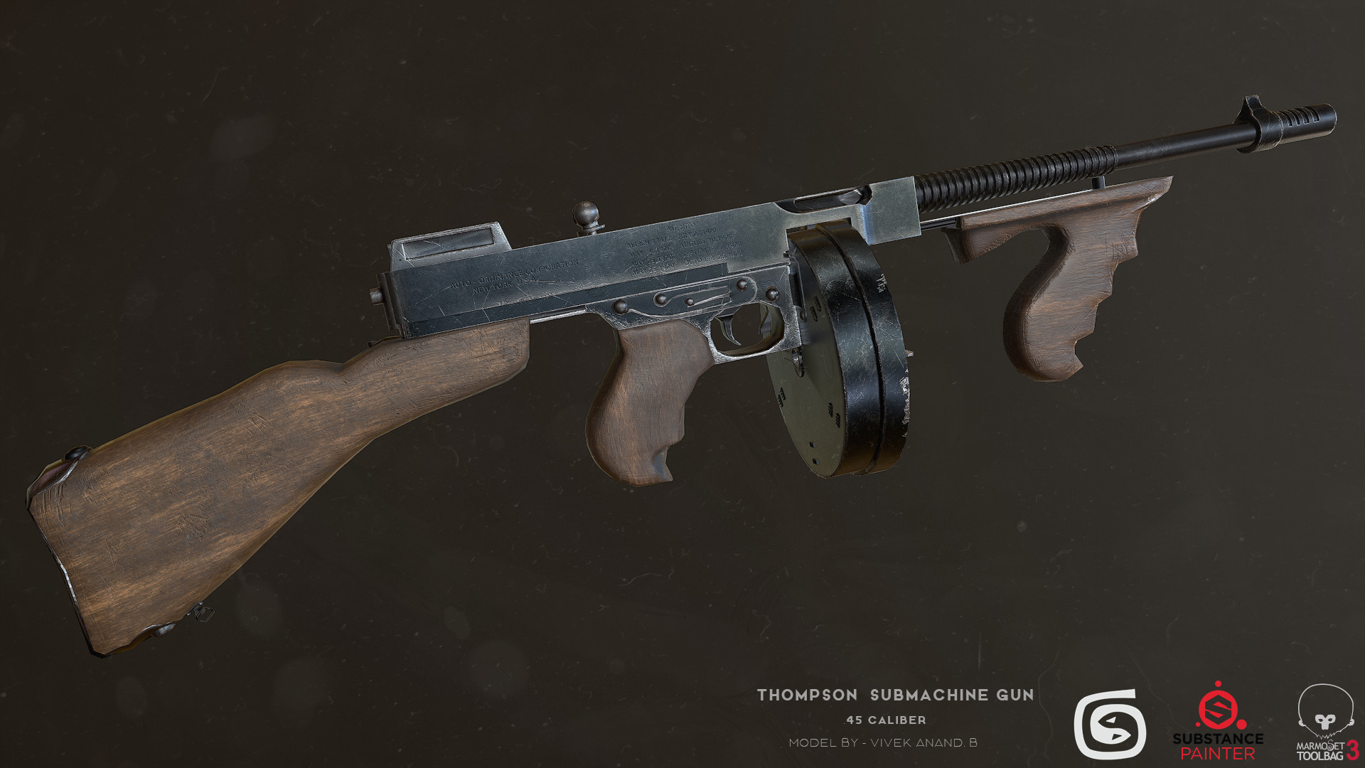 ArtStation - Tommy Gun, Vivek Anand