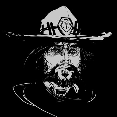 Elizabeth edwards tilt brush overwatch fanart mccree 1