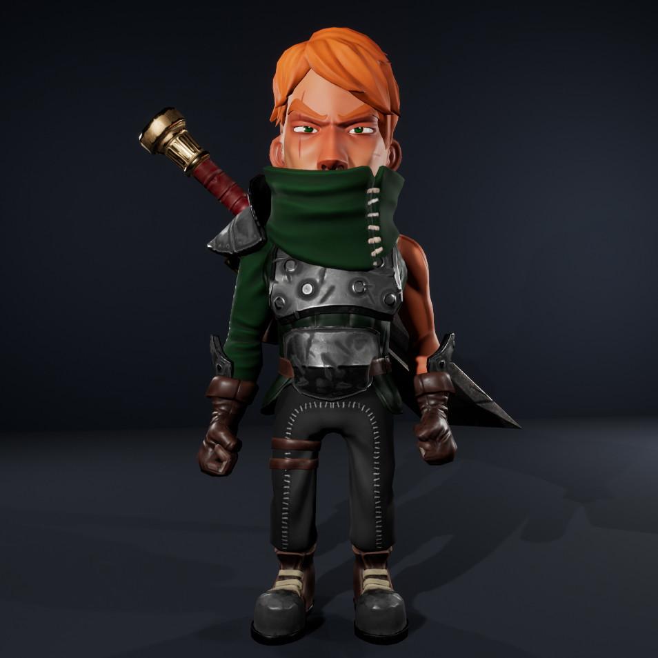 Stylized Wandering Swordsman
