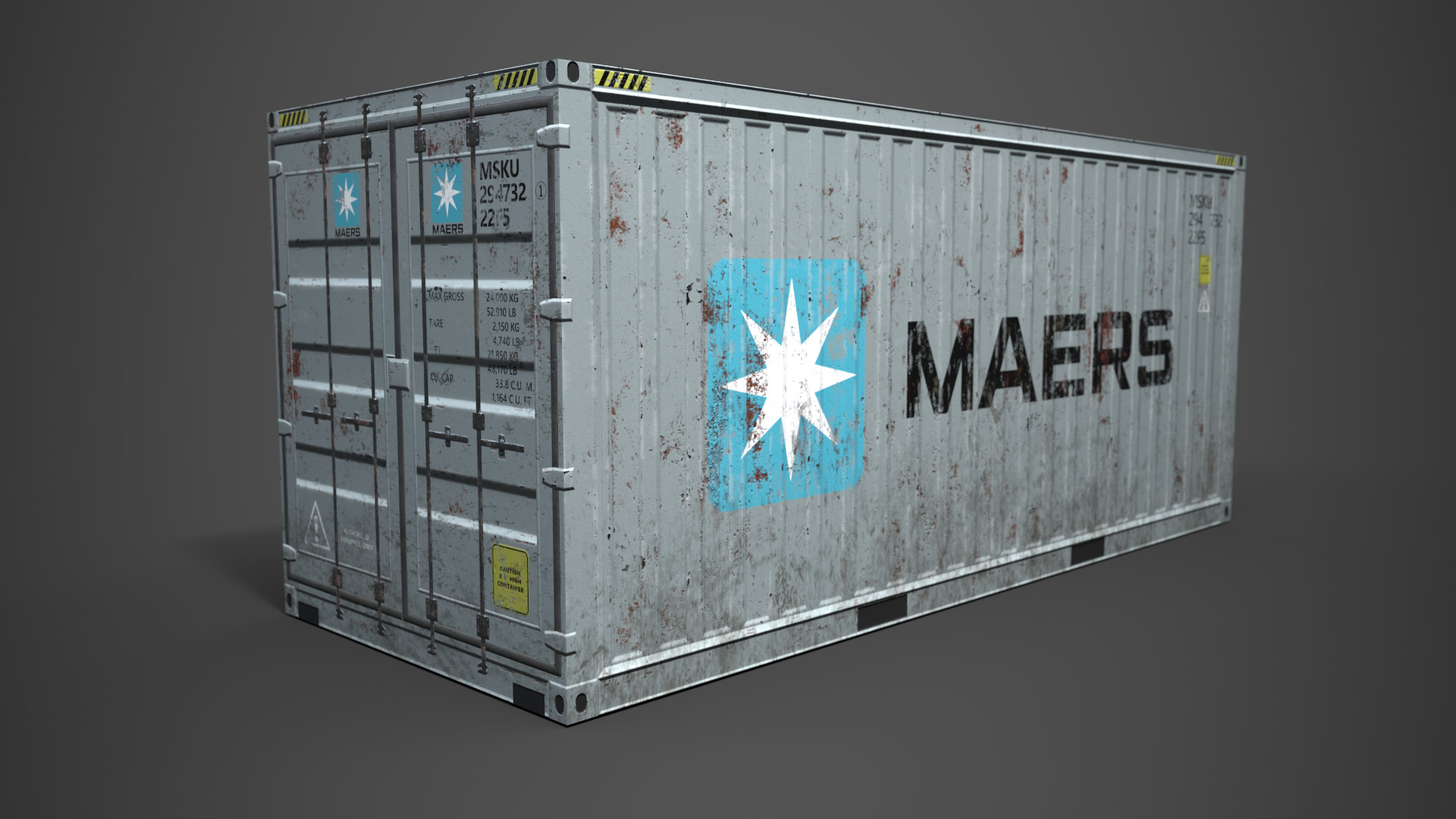 ArtStation - Poly Box - Shipping Container, Jeorge Balisoro