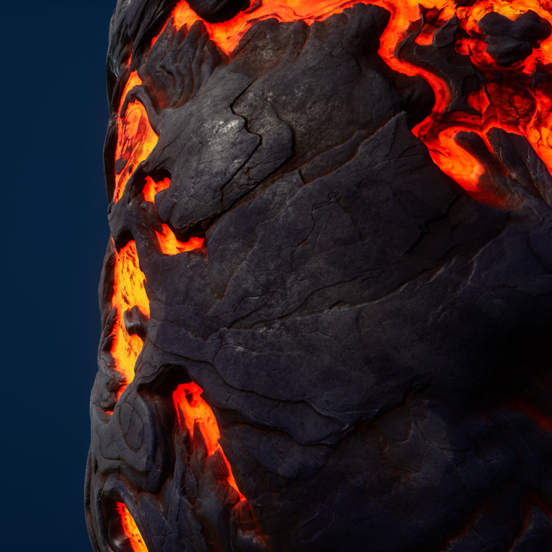 Lava - Stylized Procedural Textures