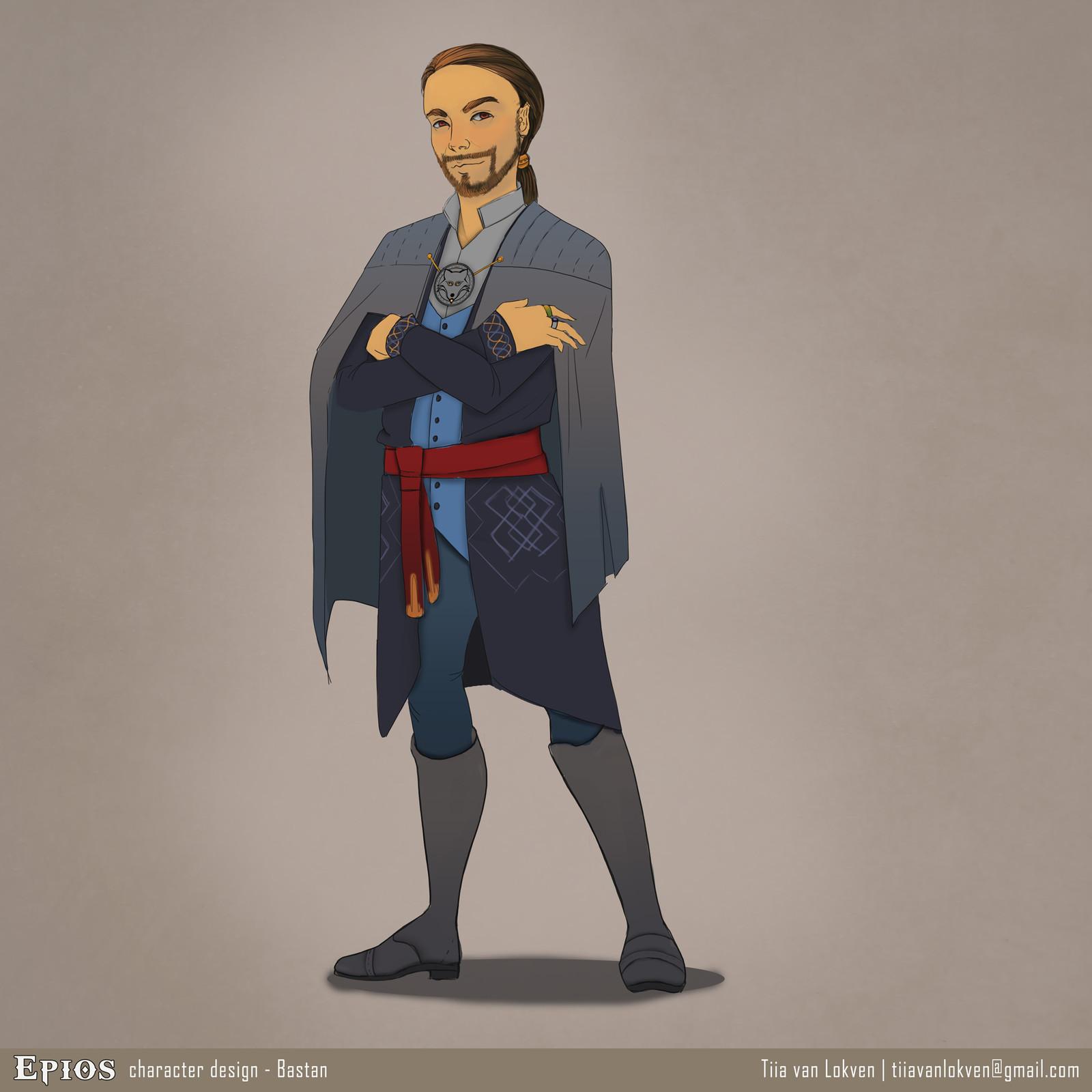 Epios character design - Bastan Whitefang