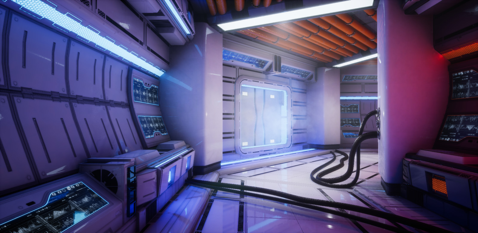 VR Sci Fi Hub (1 Material)