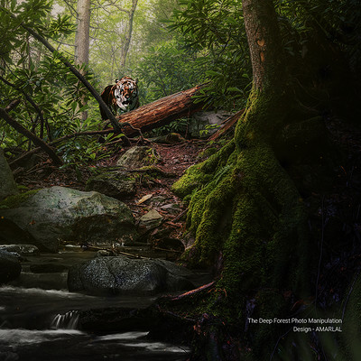 Amar lal photo manipulation tiger in forest amarlal