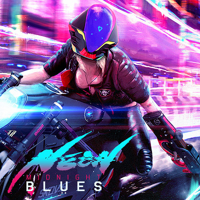 "NEON MIDNIGHT BLUES | ""AURORA HIGH"""