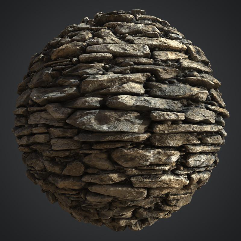 Stacked Brick: ZBrush / Substance Designer