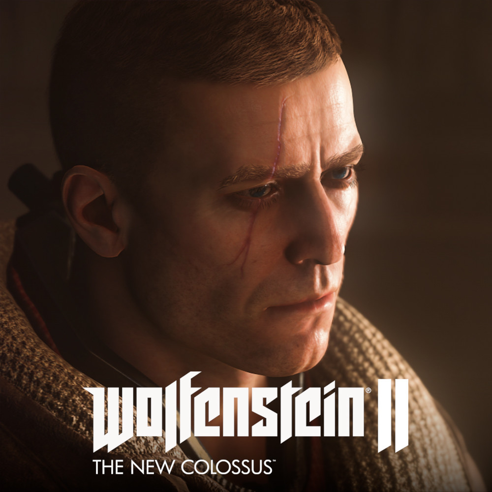 "Wolfenstein II - William Joseph ""B.J."" Blazkowicz in Da'at Yichud Power Suit with old jacket"