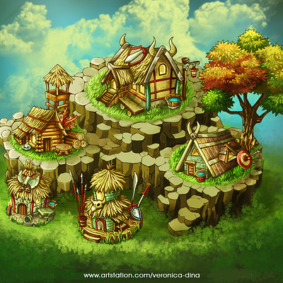 Dina yunita dina yunita viking s village artstation1