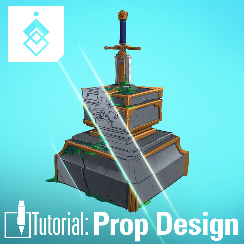 Tutorial: Sword in the Stone - Prop Design (4 Part Series) Free!!