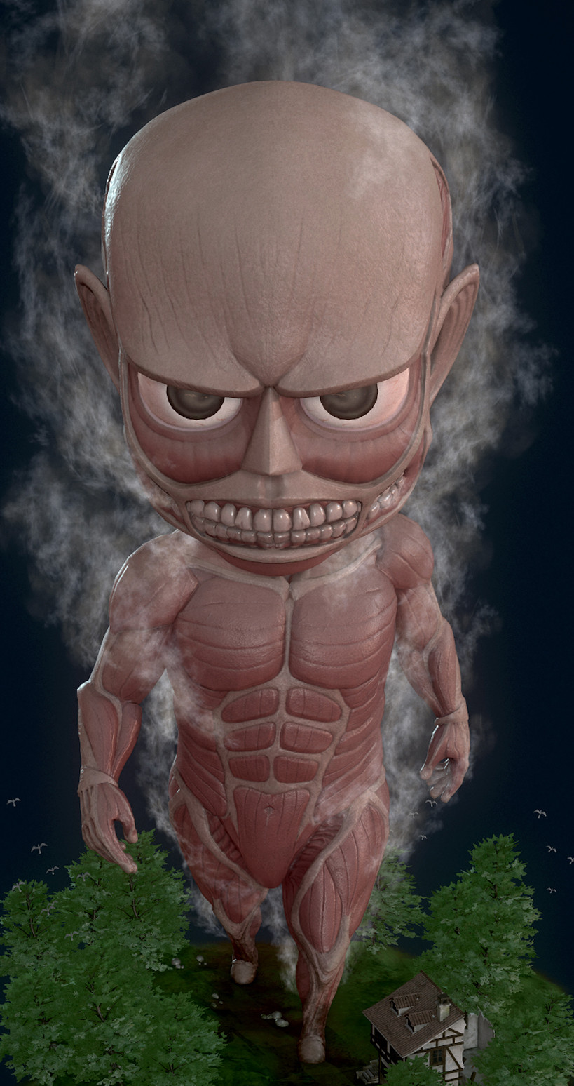 (Attack on Titan) Colossal Titan - 3D Fan Art