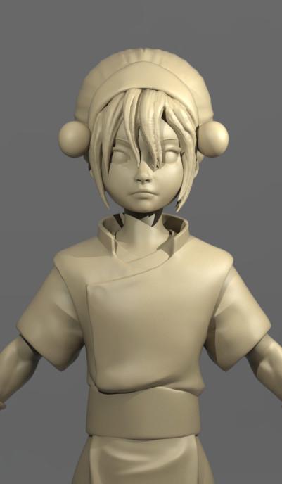 Toph Fan art Toy Sculpt