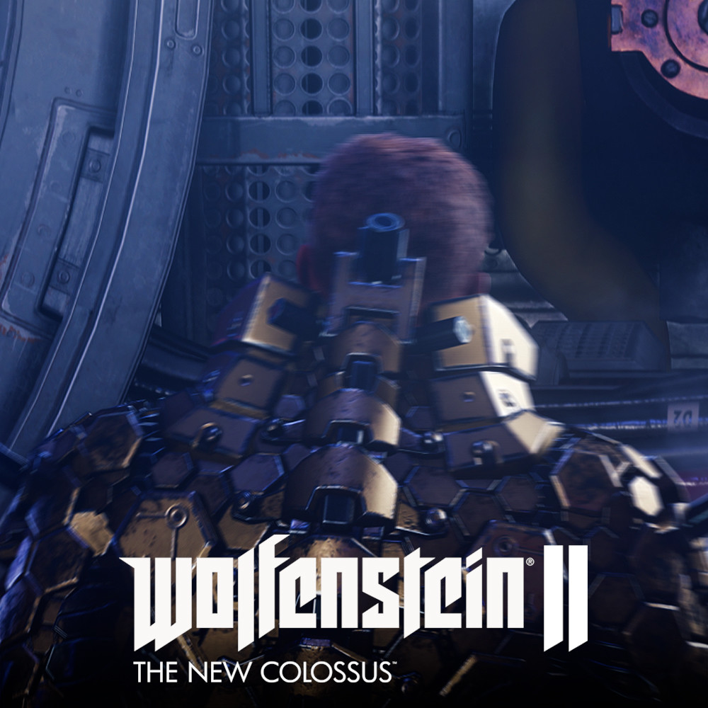 "Wolfenstein II - William Joseph ""B.J."" Blazkowicz in Da'at Yichud Power Suit"