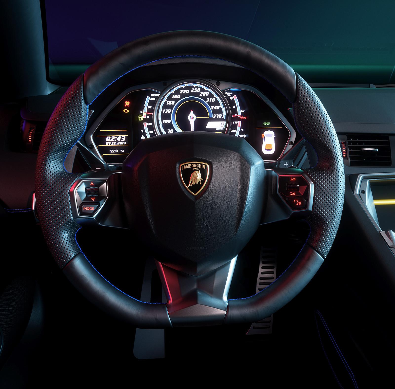 ArtStation - Lamborghini Aventador Interior