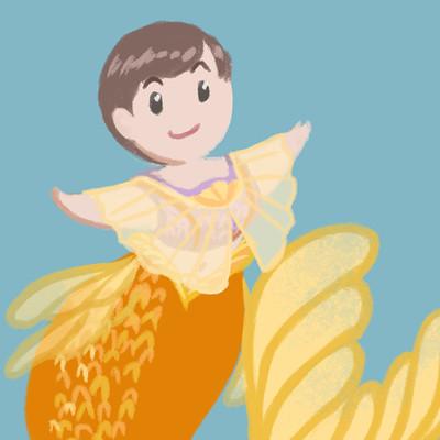 Elizabeth goldring elizabeth goldring orange fin