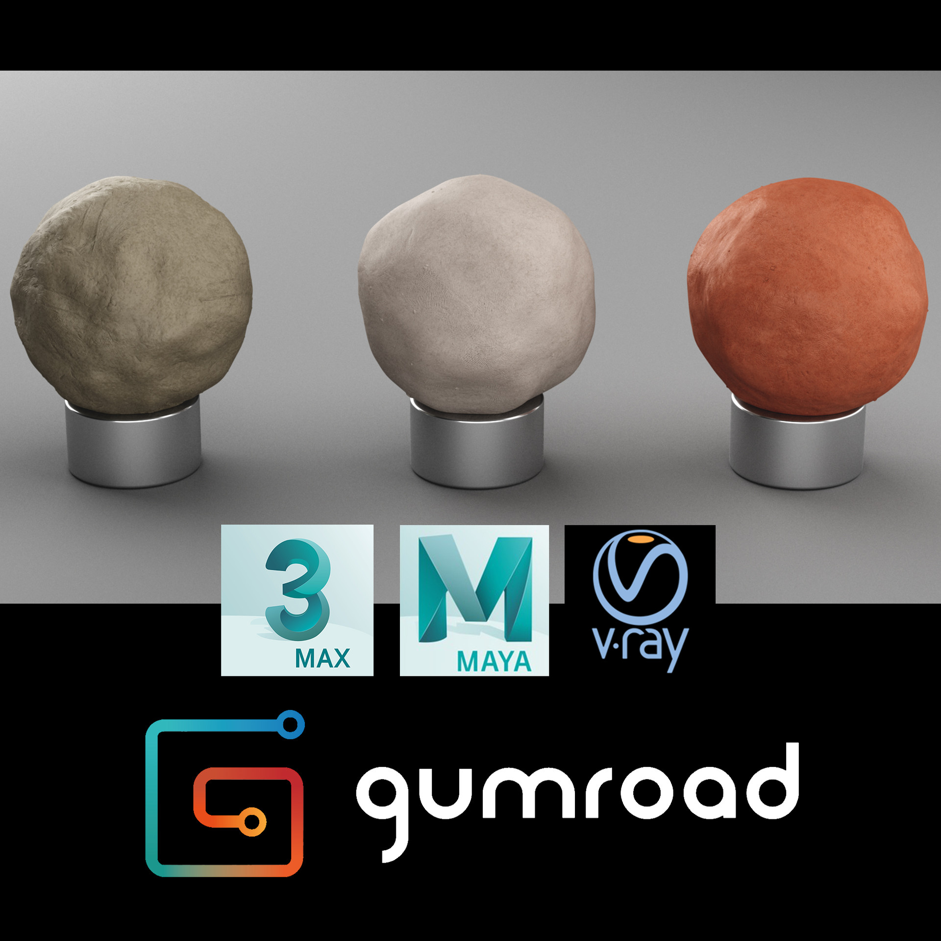 ArtStation - Vray Clay Materials for 3ds max and Maya, Artem