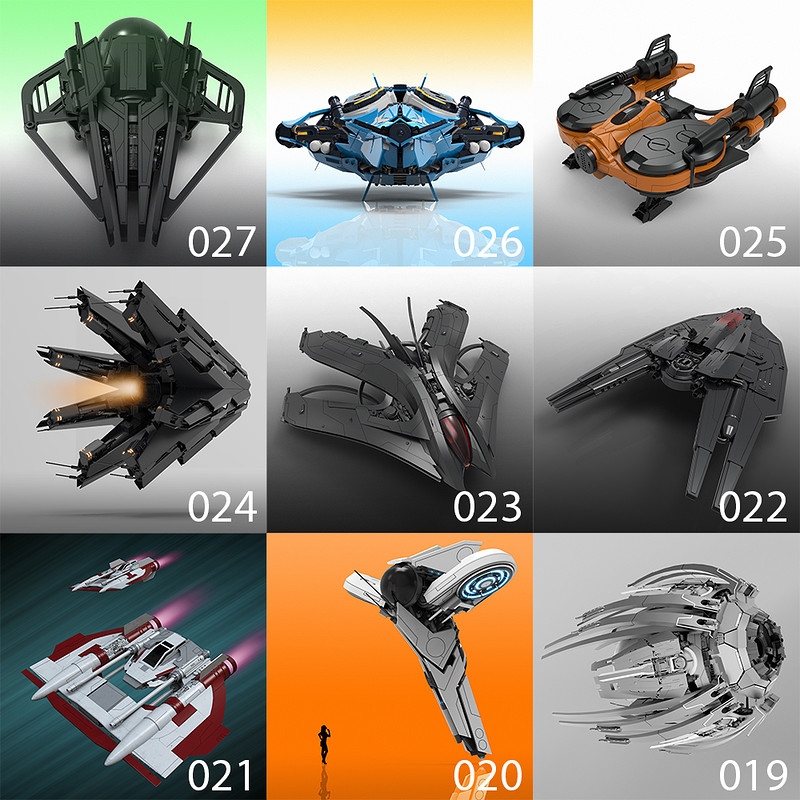 27 Days of Spaceships